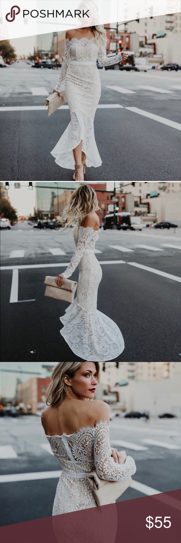 Nwt Vici White Lace Trumpet Dress Little White Dresses Trumpet Dress Dresses [ 1740 x 580 Pixel ]
