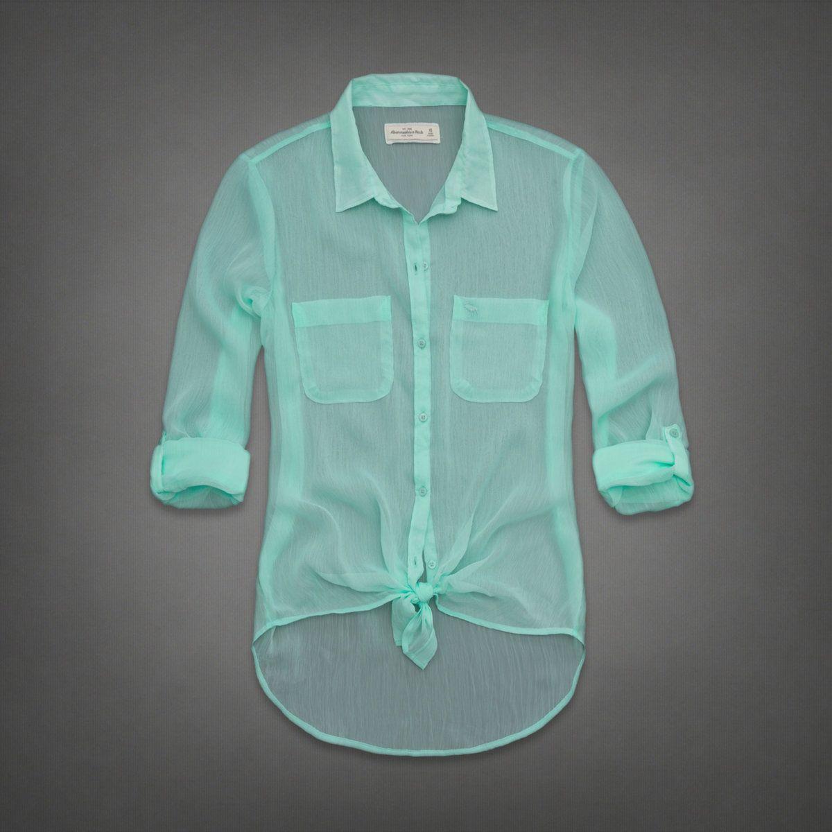 Womens Micah Chiffon Shirt | Womens Fashion Tops | Abercrombie.ca ...