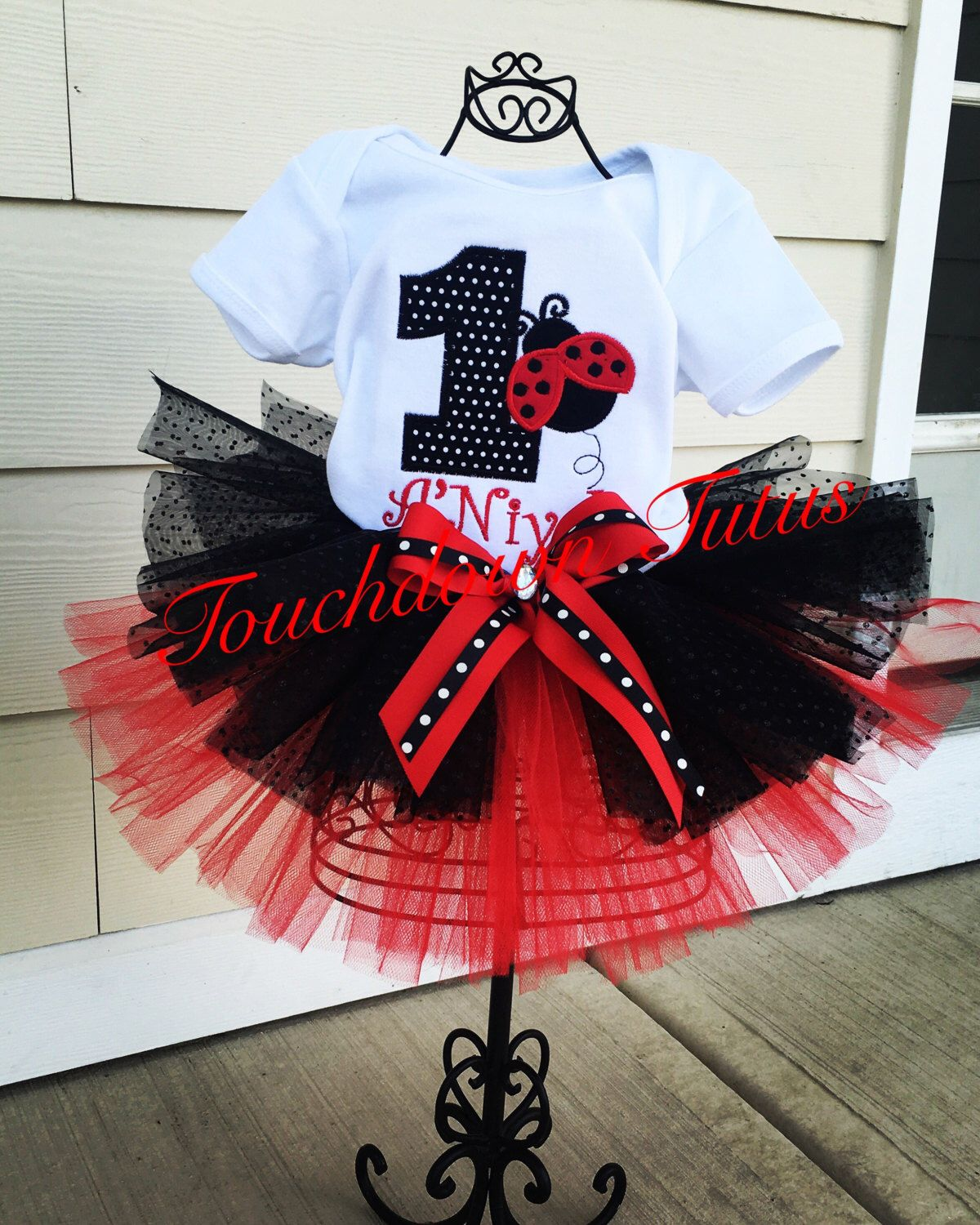 A personal favorite from my Etsy shop https://www.etsy.com/listing/398340899/ladybug-birthday-outfit-pick-your-number