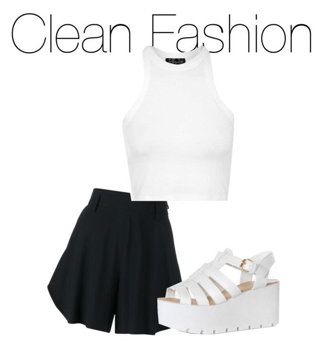 """""""Clean Fashion"""" by temporaryfixed ❤ liked on Polyvore featuring Chloé, Topshop and Glamorous"""