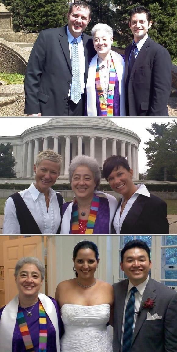 Bonniej Berger Helps Straight And Gay Couples Say Their Wedding Vows Experience A Successful Marriage Ceremony She Is An Ordained Interfaith Minister