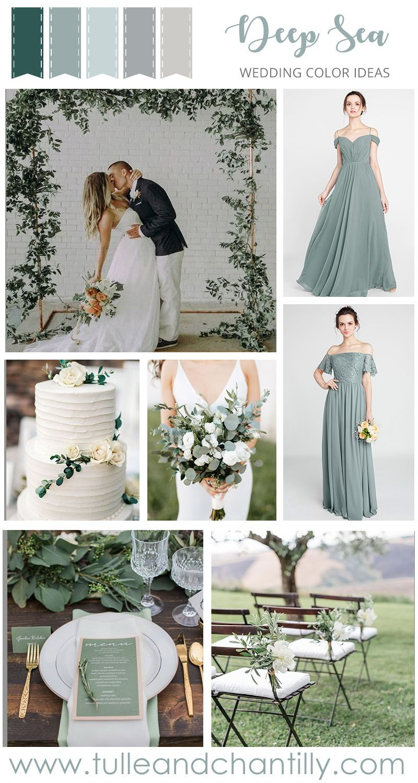 2019 greenery bridesmaid dresses from Tulle and Chantilly  #wedding #weddinginspiration #bridesmaids #bridesmaiddress #bridalparty #maidofhonor #weddingideas #weddingcolors #tulleandchantilly #sagegreenbridesmaiddresses
