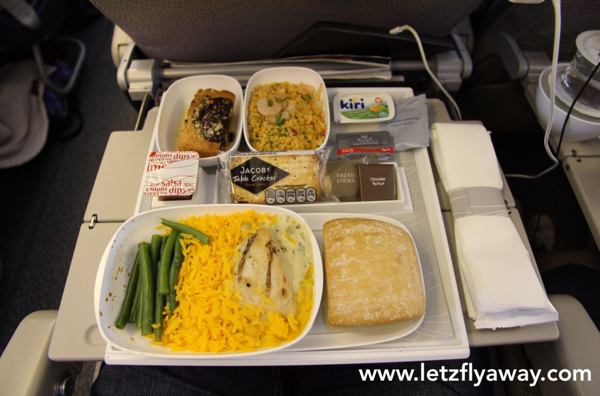 Emirates Economy Class Flight Review Airline Food Food In Flight Meal