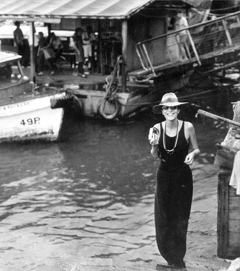 """""""Travel is important for your mind,"""" says Elsa Peretti, pictured here in Hong Kong in the late 1960s."""