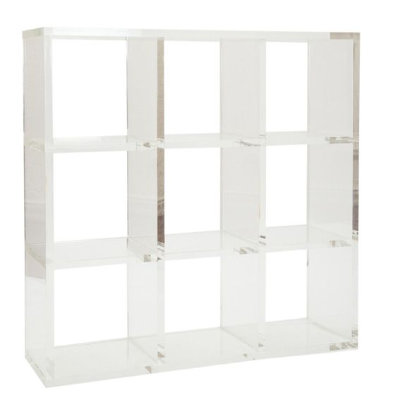Lucite Bookshelf Would Be Great In A Bathroom Or A Glam Closet Cube Shelves Design House Design