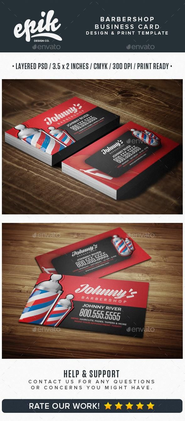 Barbershop business card template business card design pinterest barbershop business card template fbccfo Gallery
