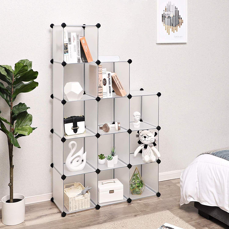 Amazon Com Songmics Cube Storage 12 Cube Book Shelf Organizer Units Diy Modular Closet Cabinet Bookc Dorm Room Designs Cube Storage Decorating Small Spaces