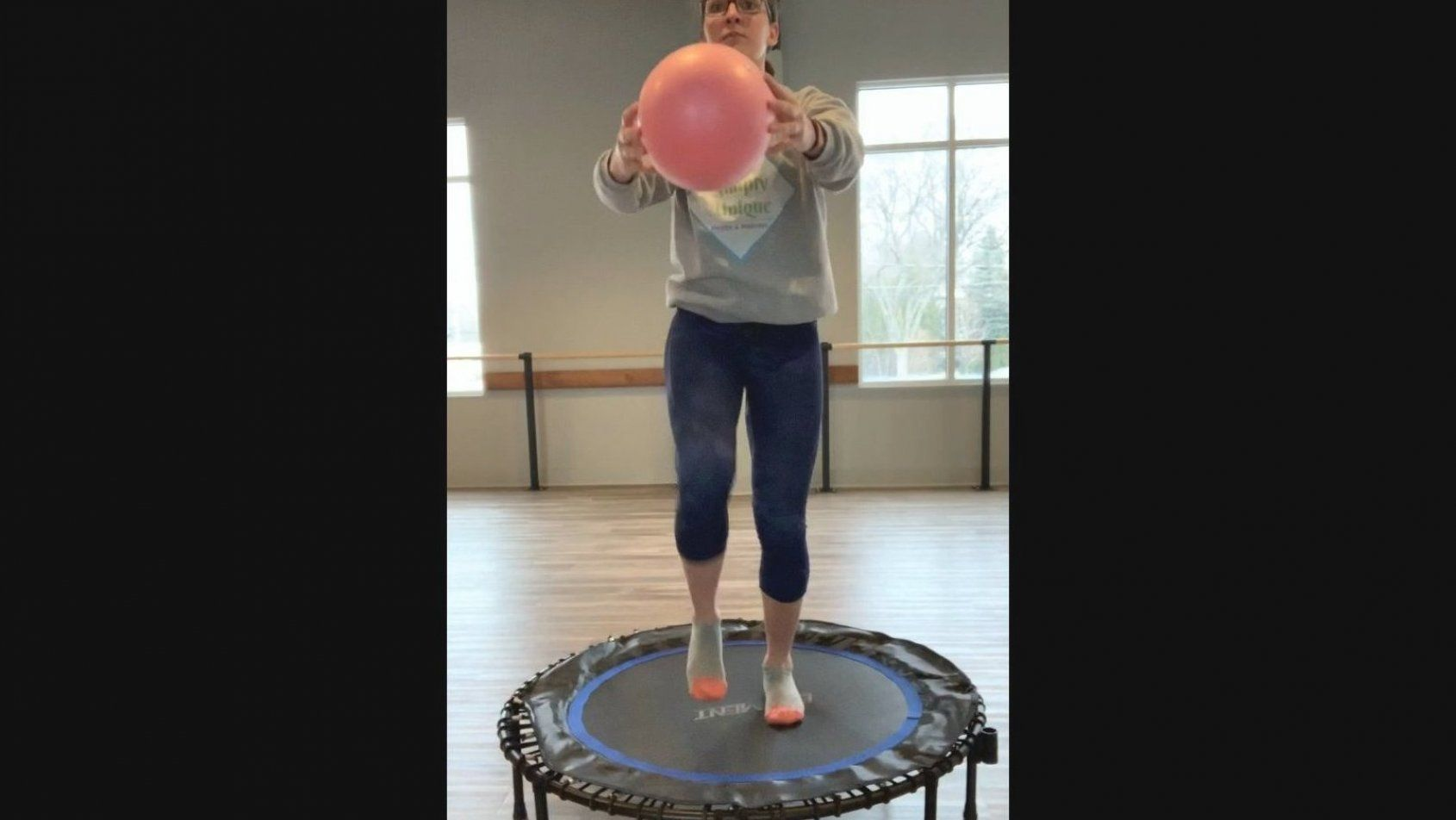 Barre Bounce fun Fun FUN  Bouncing on a trampoline is a great LOW impact HIGH cardio workout and ton...