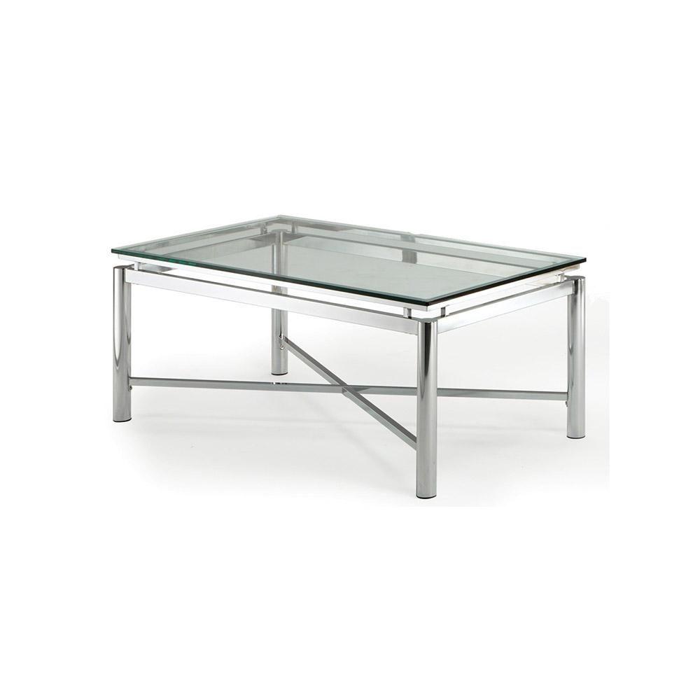Nova Glass And Chrome Cocktail Table Nv100ctbl Glass Shelf Supports Chrome Glass Shelves