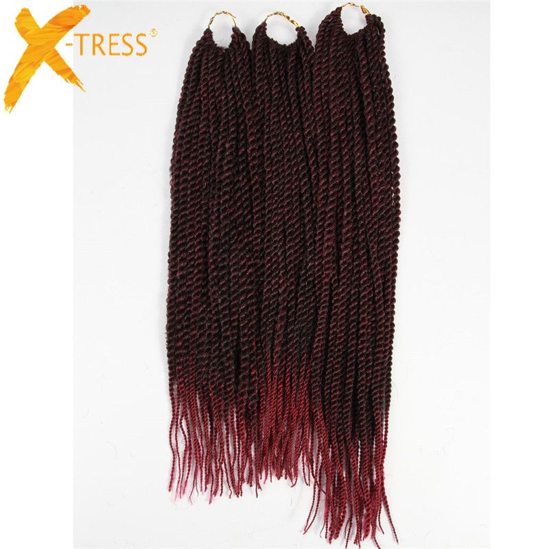 X Tress Synthetic Hair Senegalese Braiding Hair Extensions 3pcs Pack