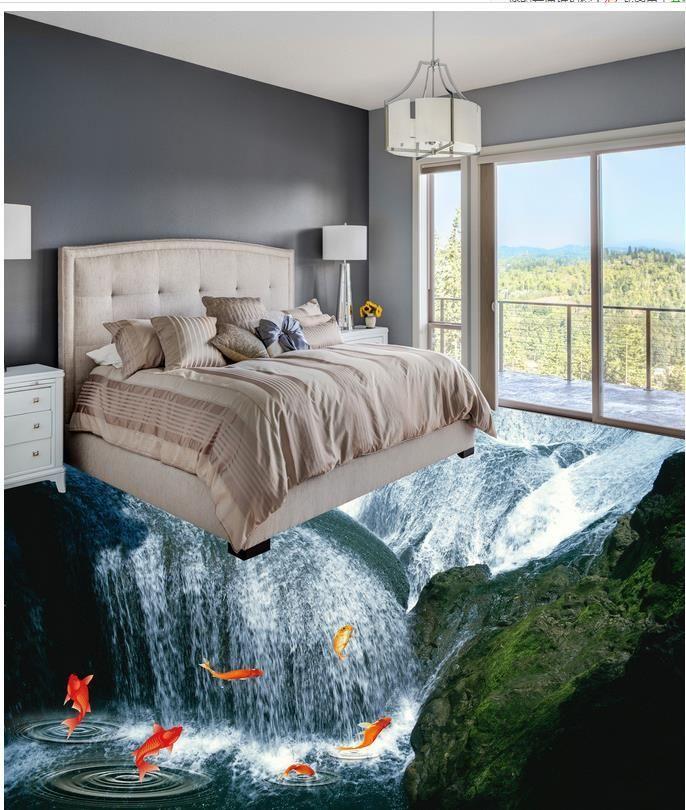 Wasserfall Bad 3d Wallpaper Fur Wohnzimmer Benutzerdefinierte 3dwallpaperfloor Bad 3d Tapete Wohnzimmer 3d Bodenbelag Wohnzimmer