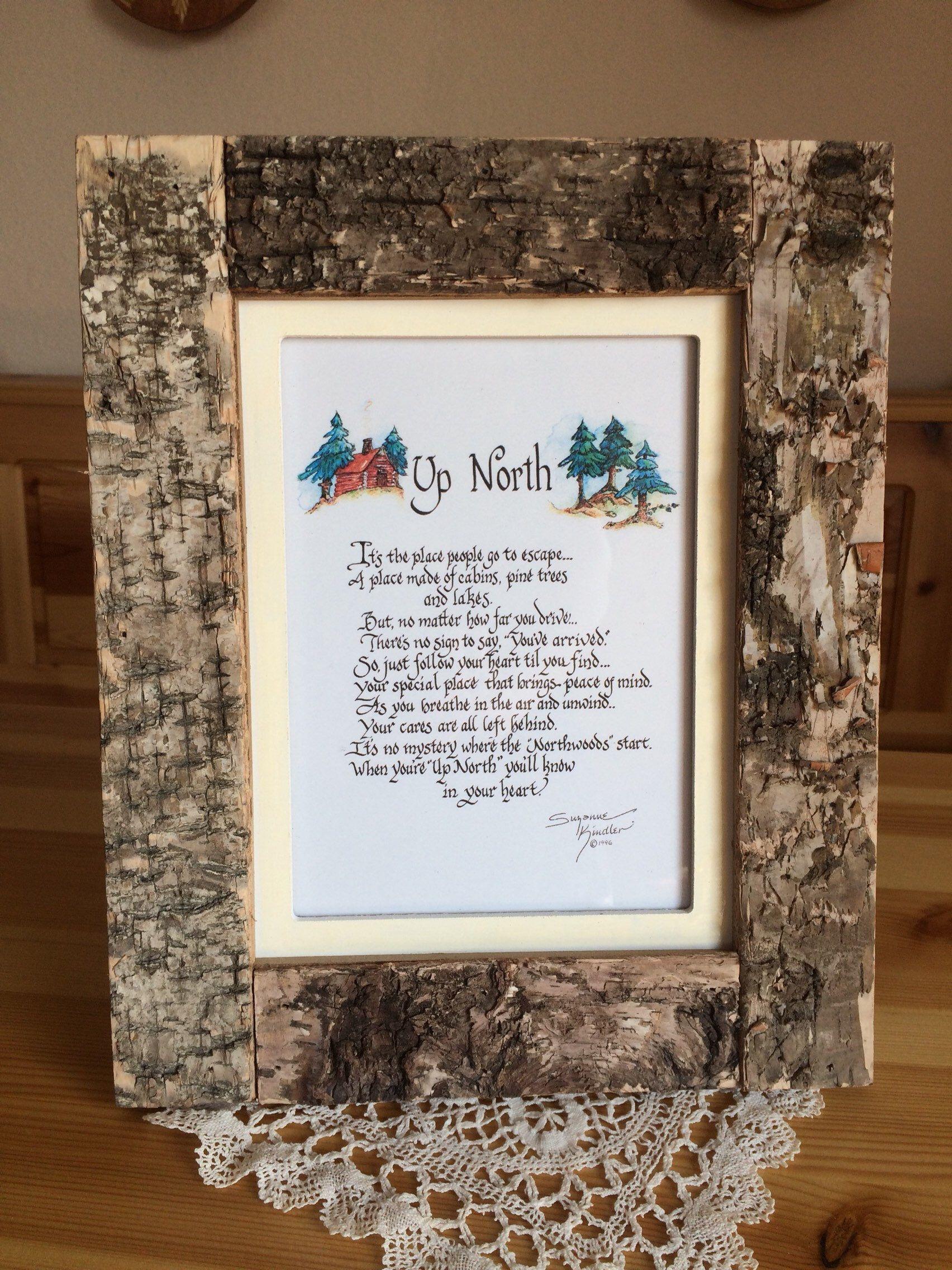 Up North Poem Lodge Decor Camper Rustic Home