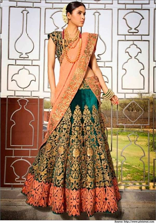 15 Bridal Lehengas For Your Mehendi Ceremony | Designer Lehenga Cholis