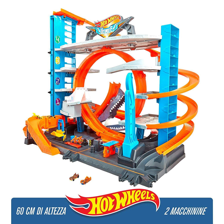Hot Wheels Garage delle Acrobazie Playset con Pista Connettibile per Macchinine,