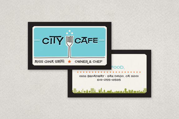 Retro Restaurant Business Card Template Inkd Restaurant Business Cards Business Cards Creative Templates Business Card Template Design