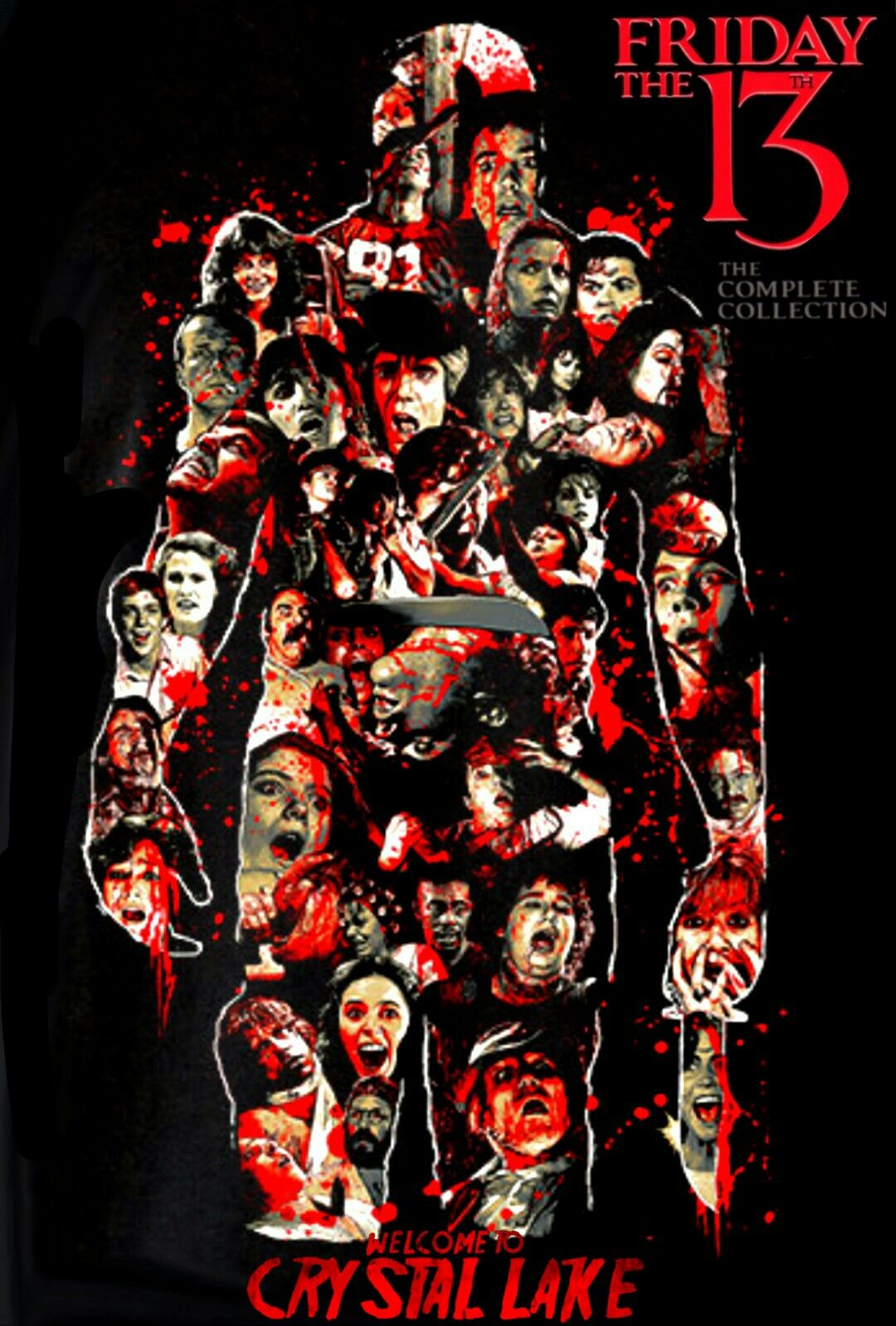 Friday the 13th collection horror movie art horror