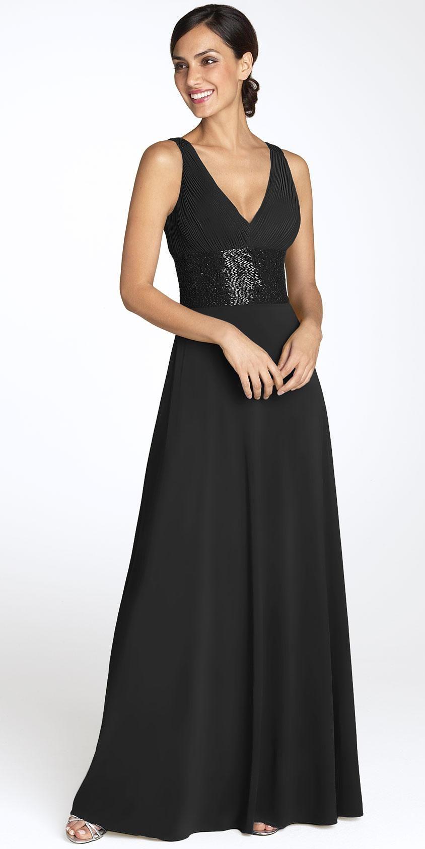 Black Long Cocktail Dress - Ocodea.com