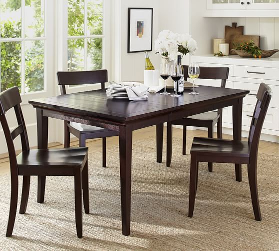 Metropolitan Dining Table Extending Dining Table Square Espresso
