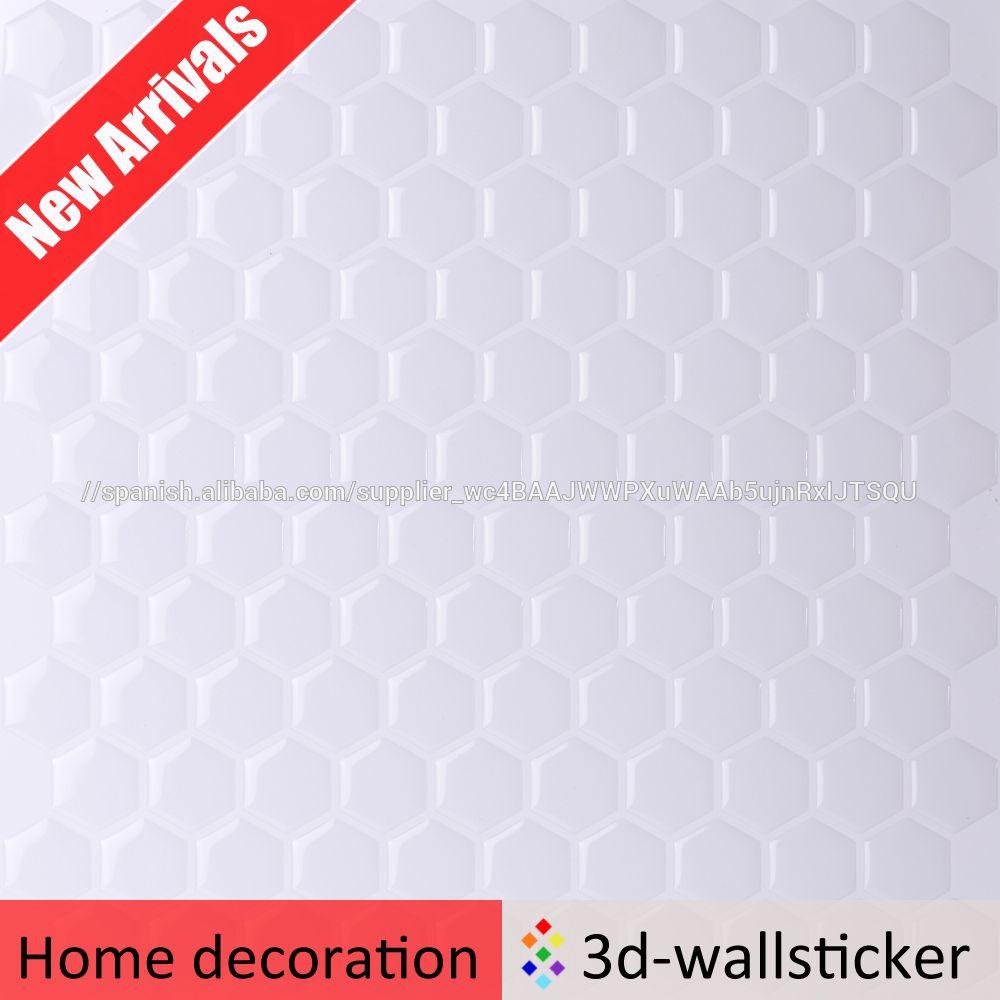 Nueva llegada del hexágono mosaico diseño extraíble resina epoxi ...