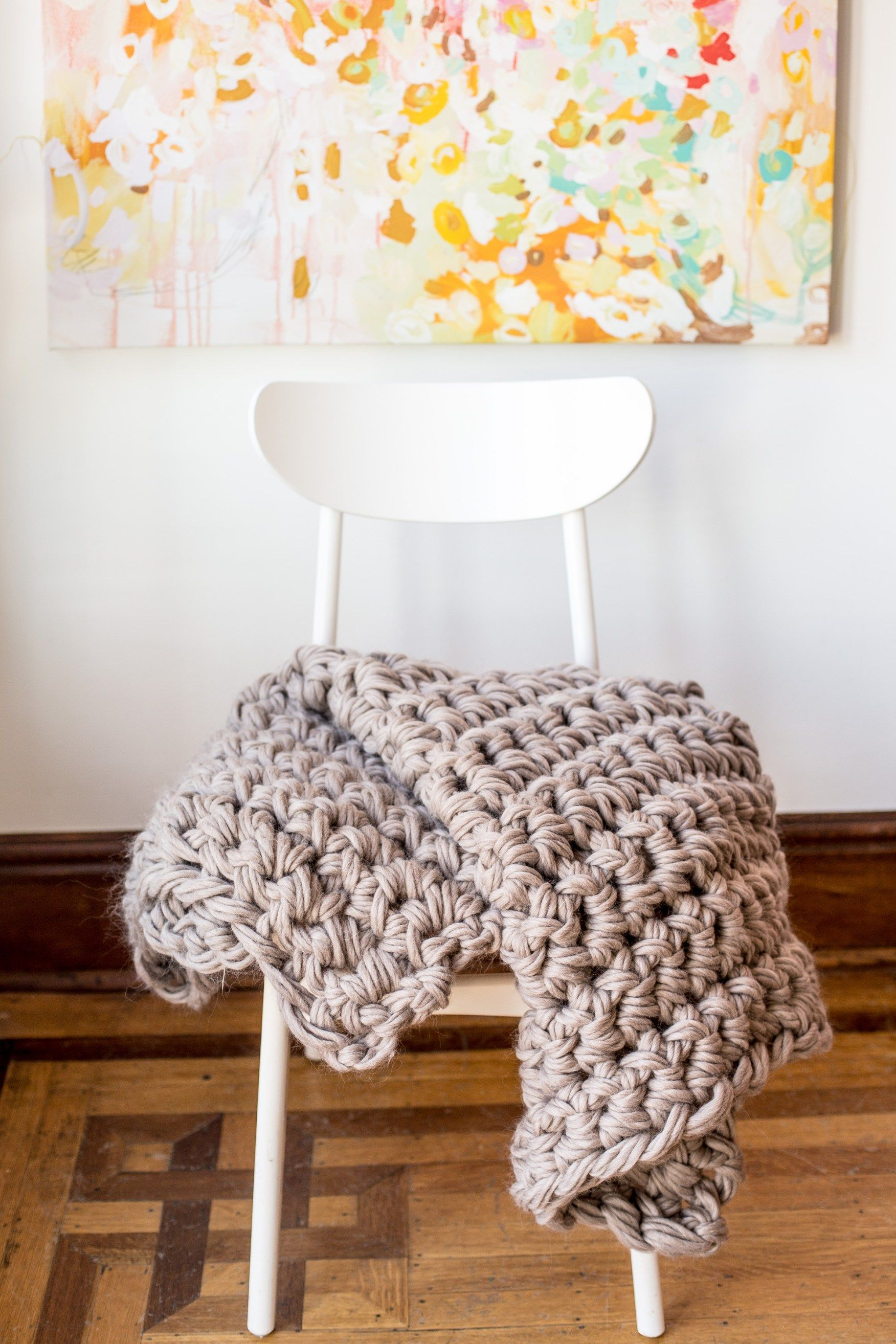 Gorgeous Hand Crochet Blanket in an Hour | Lana y Decoración