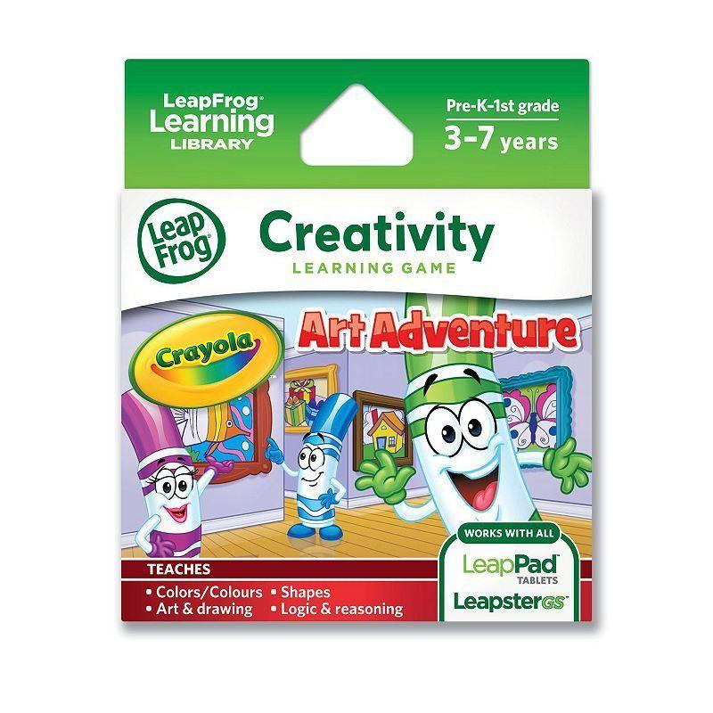 LeapFrog Explorer Crayola Art Adventures Learning Game, Multicolor