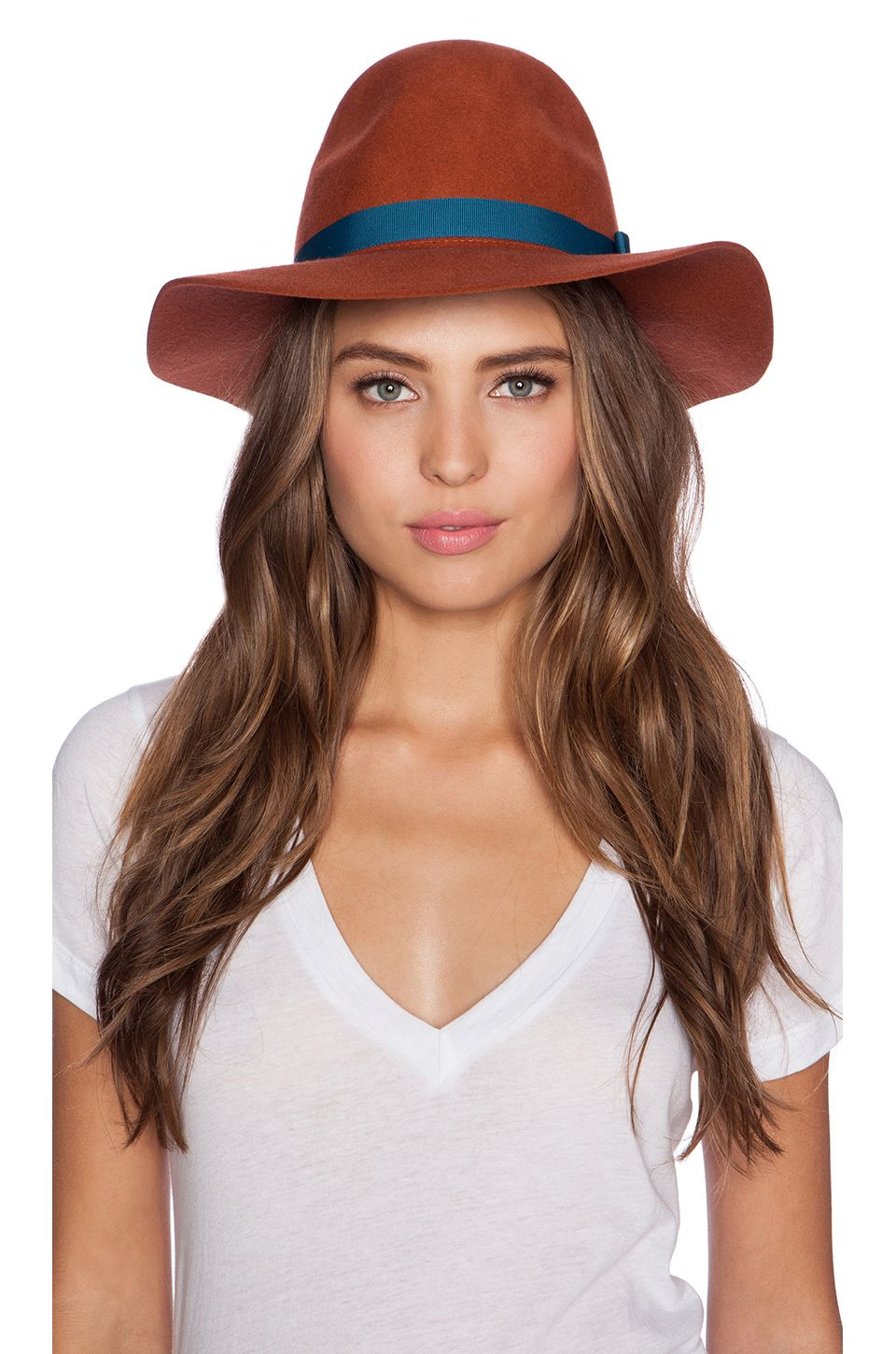 Brixton Dalila Hat in Coral  7c1d26568a57