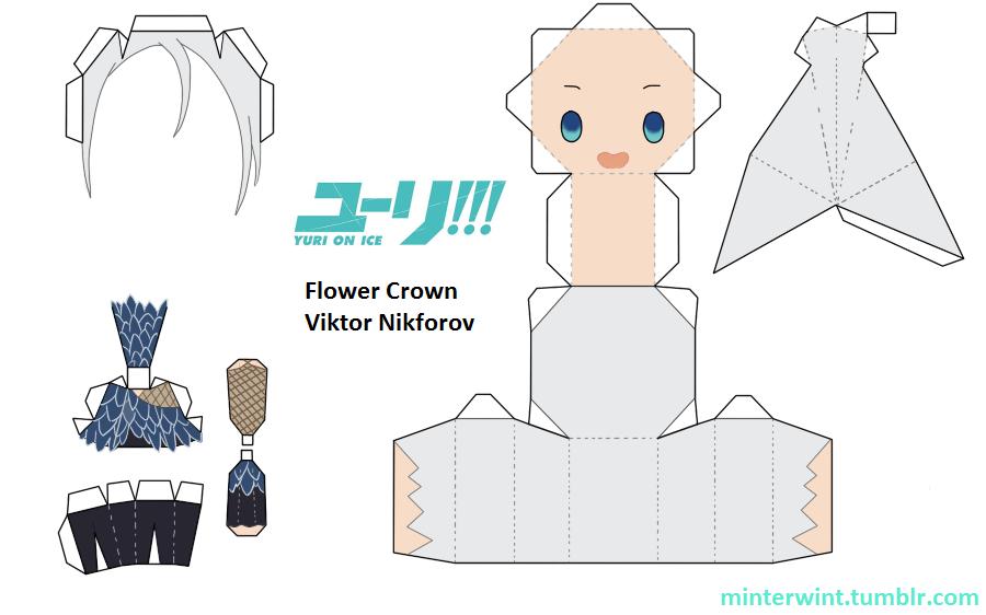 Template - Yuri!!! On Ice - Flower Crown Viktor by Verloria