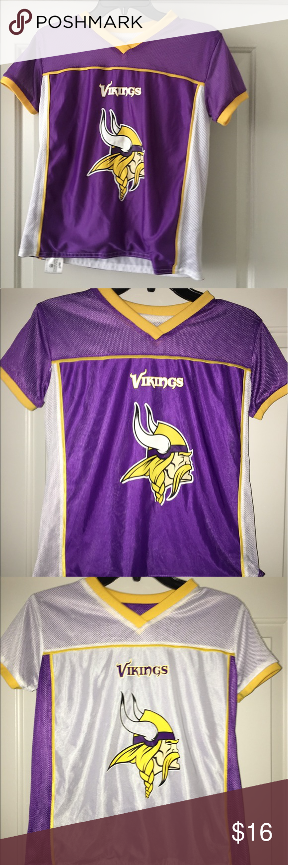 6e22e9149 Vikings reversible flag football jersey sz  M Thank you for viewing my  listing
