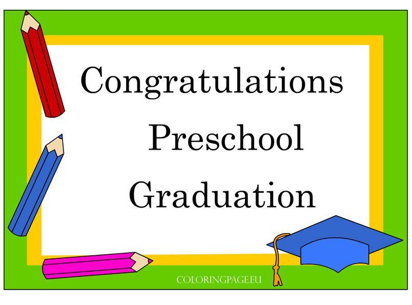 Preschool Graduation Certificate  School    Preschool