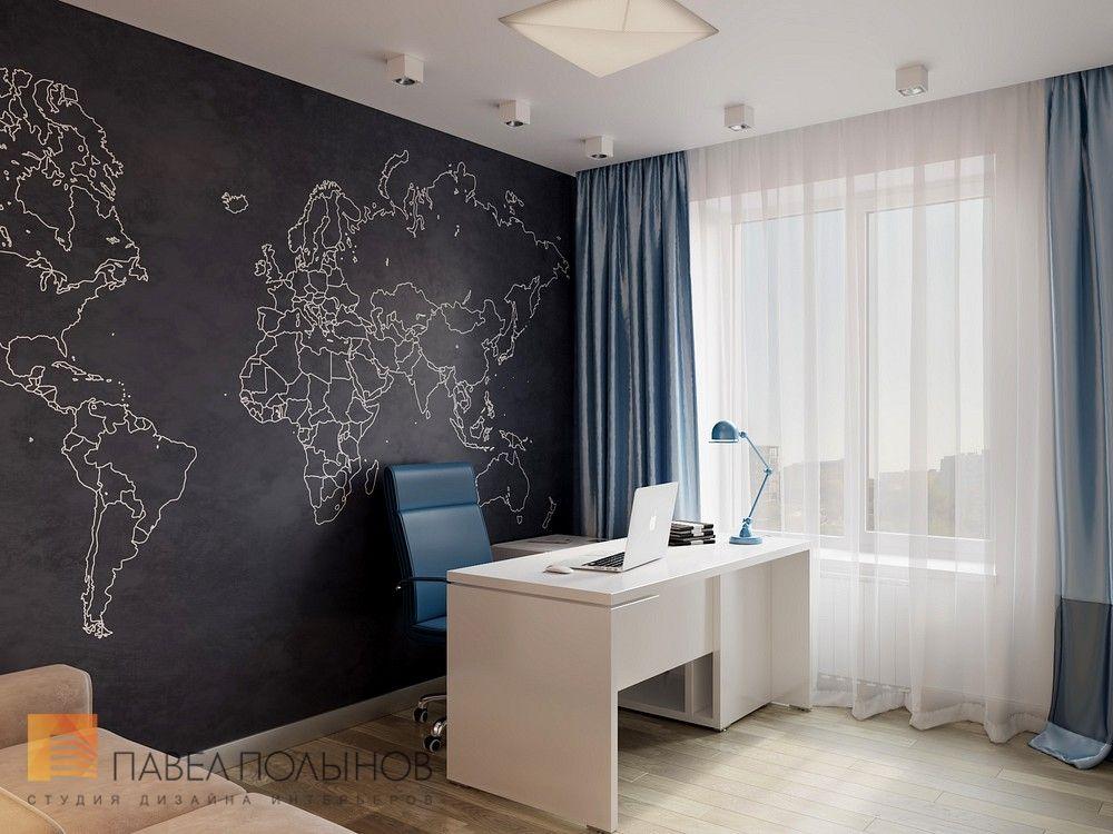Фото: Кабинет - Интерьер трехкомнатной квартиры в ...