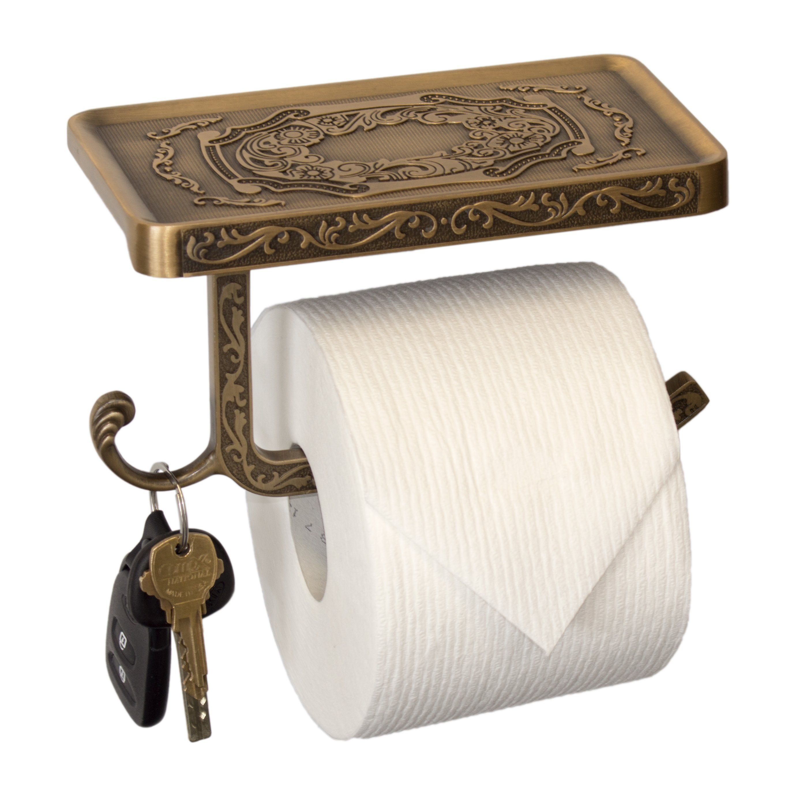Toilet Paper Holder With Phone Shelf Vintage Style Bathroom Toilet Paper Holders Toilet Paper Holder Toilet Paper
