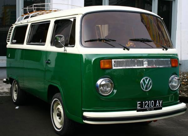 Year of construction 1977. VW Kombi bus T2 made in German,