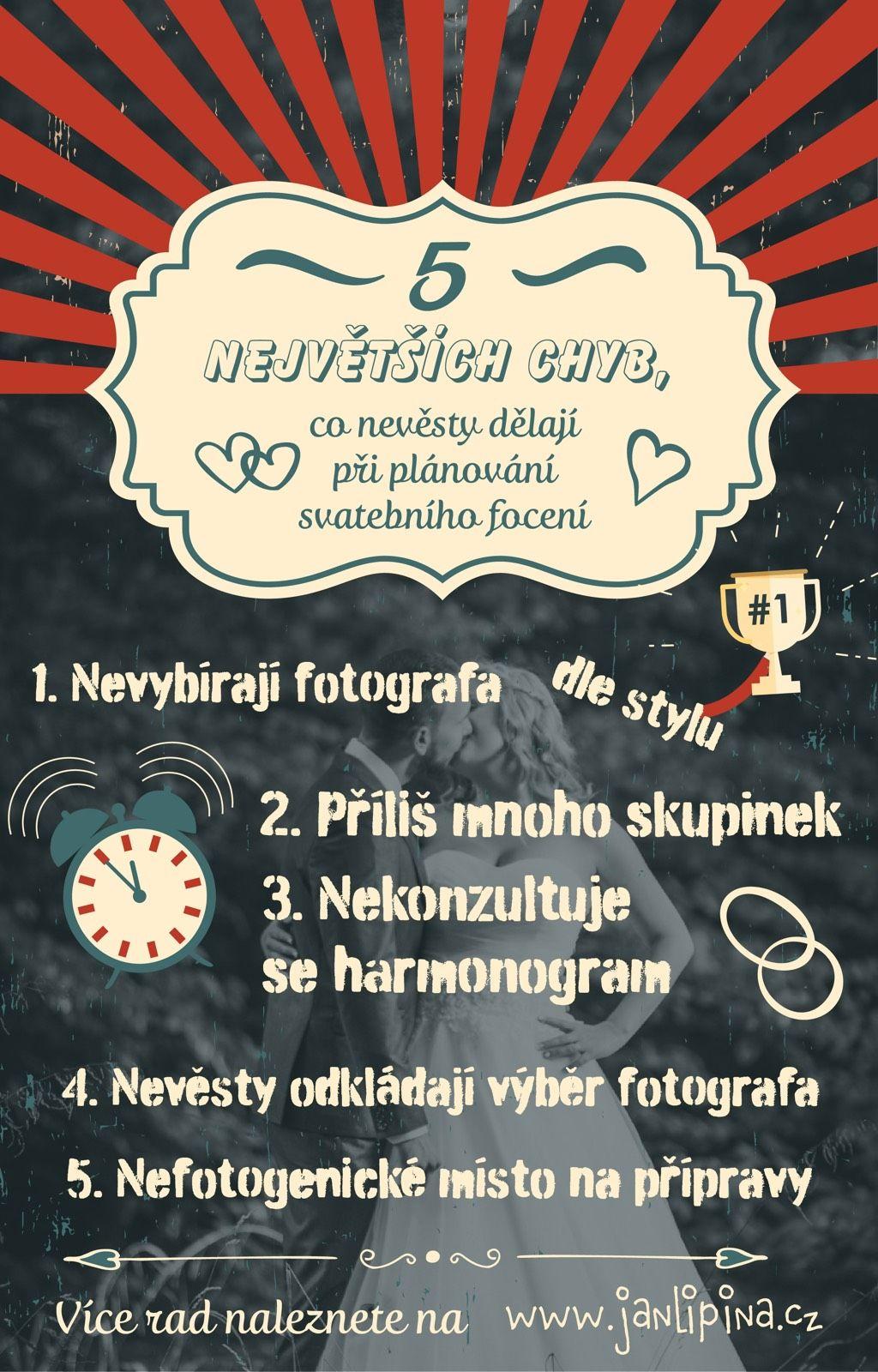 Největší chyby nevěst při plánování - Svatební focení. autor: Svatební fotograf Jan Lipina