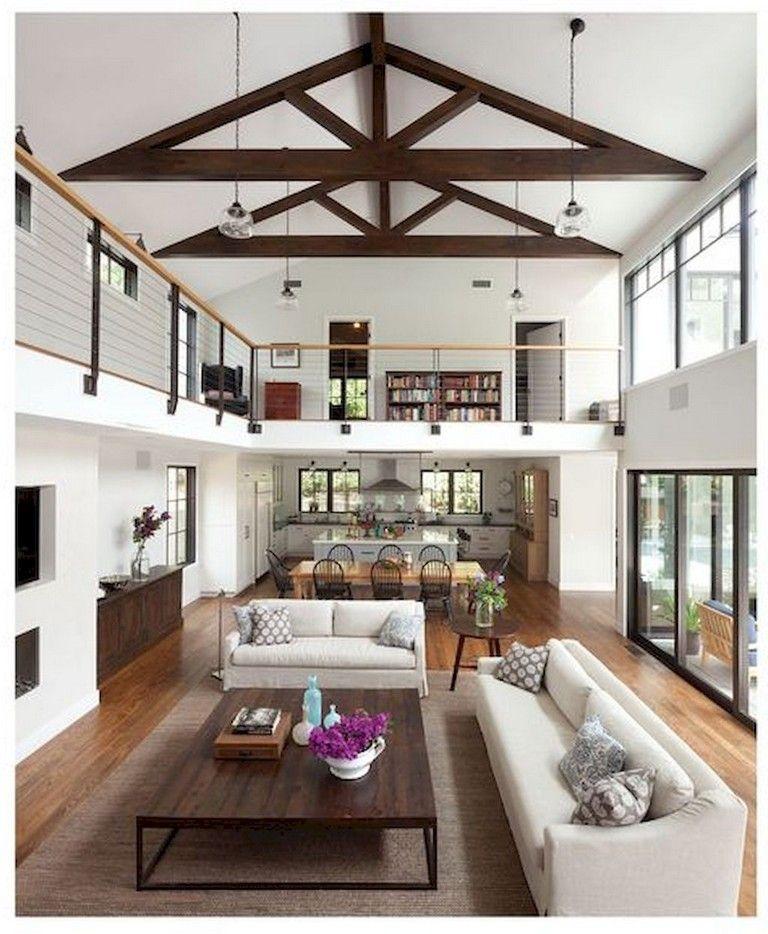 33 Awesome Modern Garage Apartment Designs Ideas Open Living Room Design Modern Farmhouse Living Room Livingroom Layout