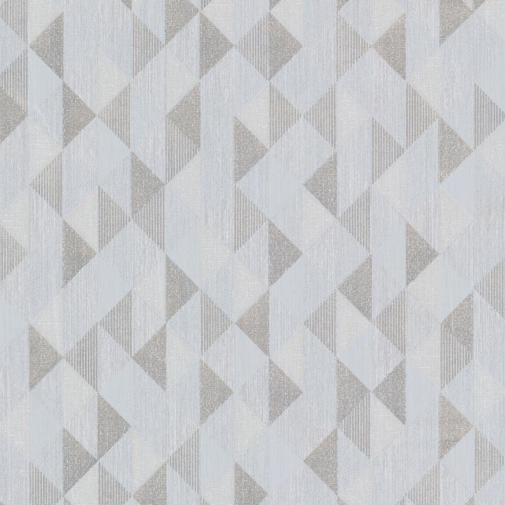 Decorline Prism Ethan Triangle Wallpaper Silver / Grey (DL20933 ...