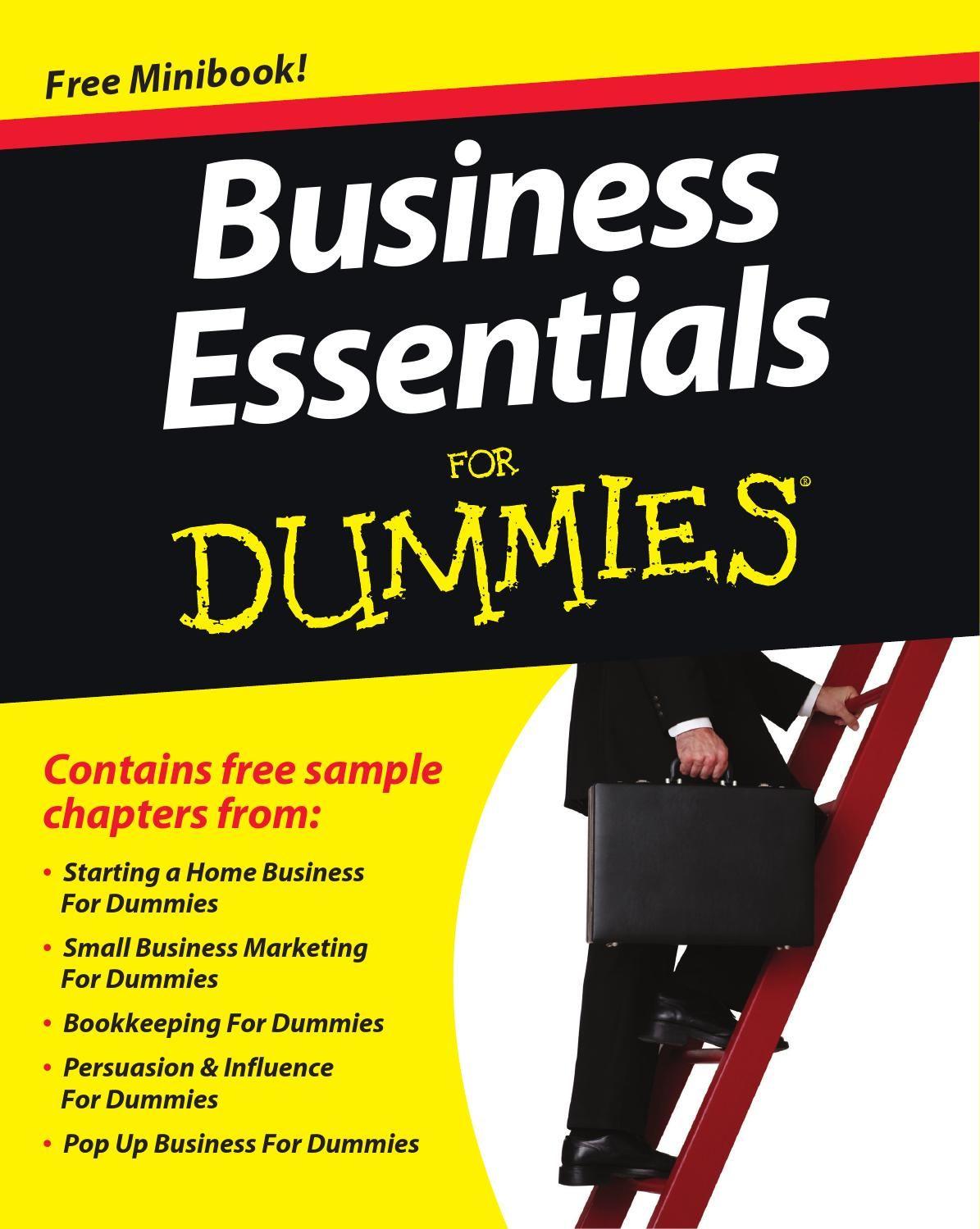 Business Essentials For Dummies Minibook Business