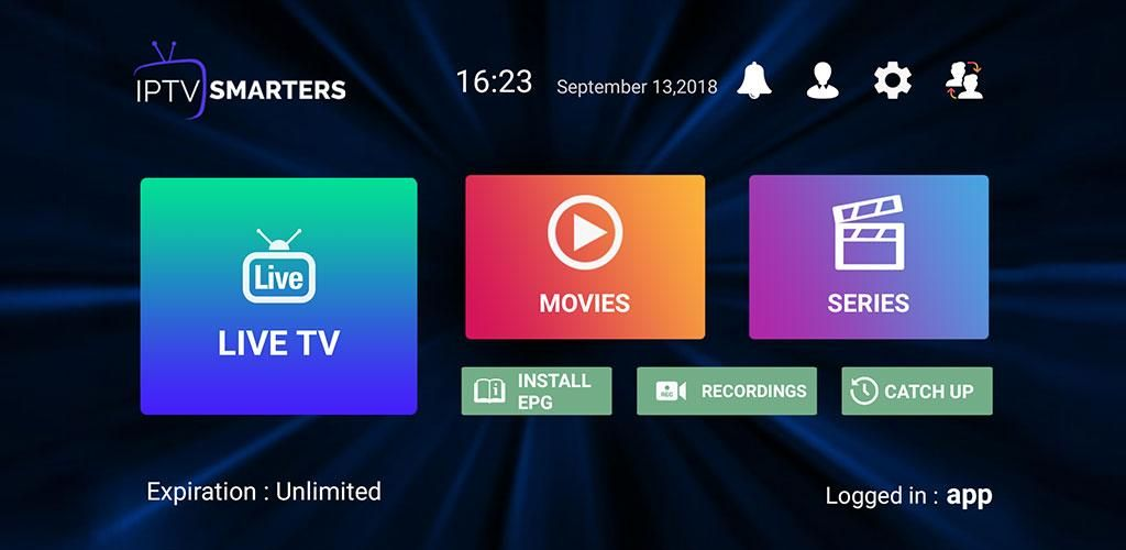 IPTV Smarters Pro Smart tv, App support, Live tv