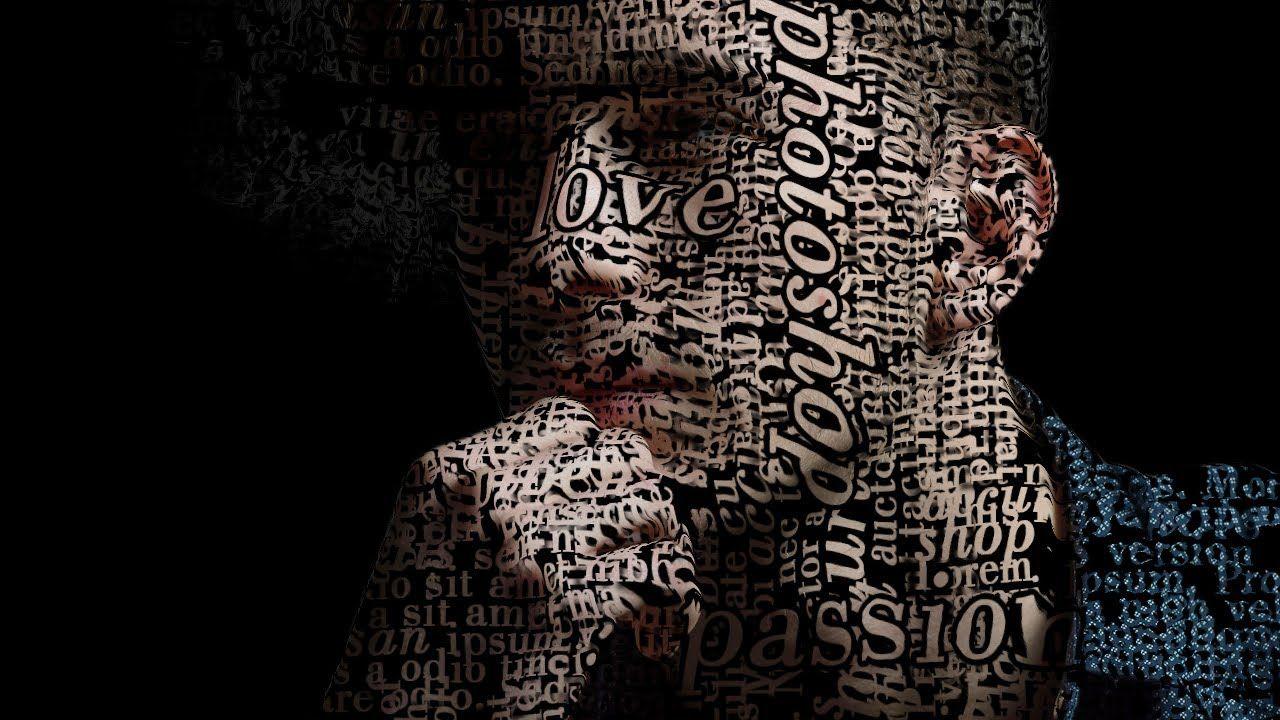 Tutorial Text Portrait Poster Design