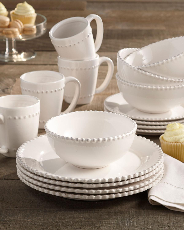 16piece bianca beadededge dinnerware dish sets