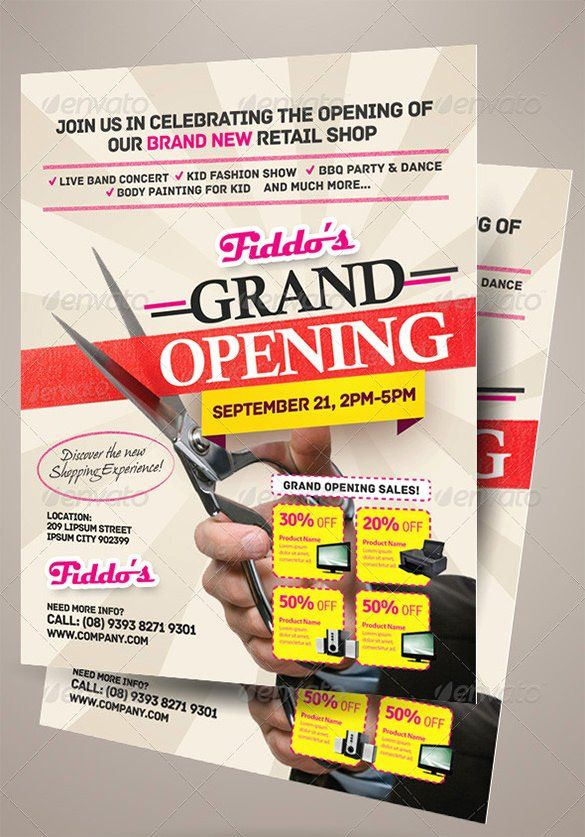Grand Opening Flyer Template Luxury 41 Grand Opening Flyer Template Free Psd Ai Vector Flyer Template Free Brochure Template Flyer Design Templates