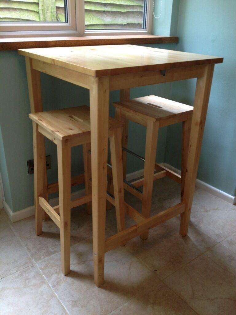 Ikea bar table model Bjorkudden, solid
