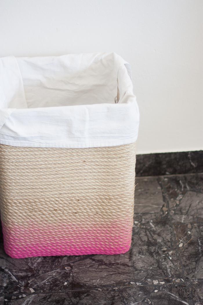 Pretty Laundry Baskets Enchanting How To Make A Ombre Rope Laundry Basket 14  Diy  Pinterest  Ombre Inspiration