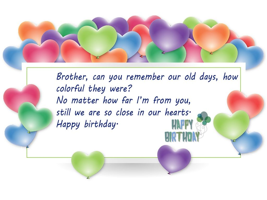 Beautiful birthday wishes for brother to express your