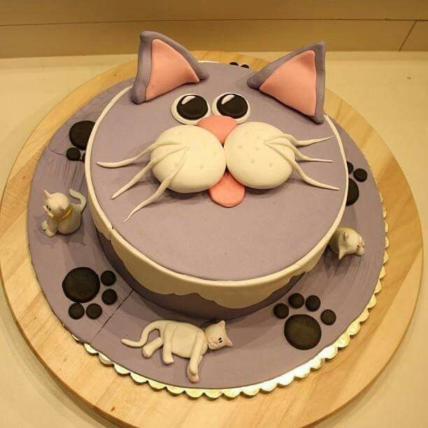 Pin by Sara Harville on Cats Pinterest Cake Birthday cakes and Cat