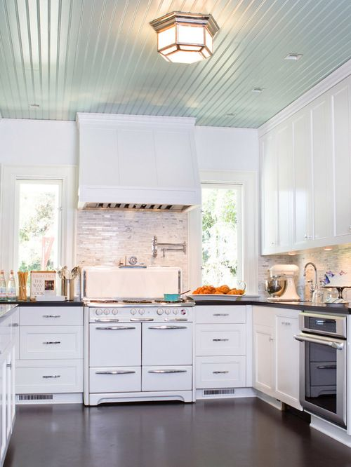 Kitchen Design · Painted Beadboard On Ceiling