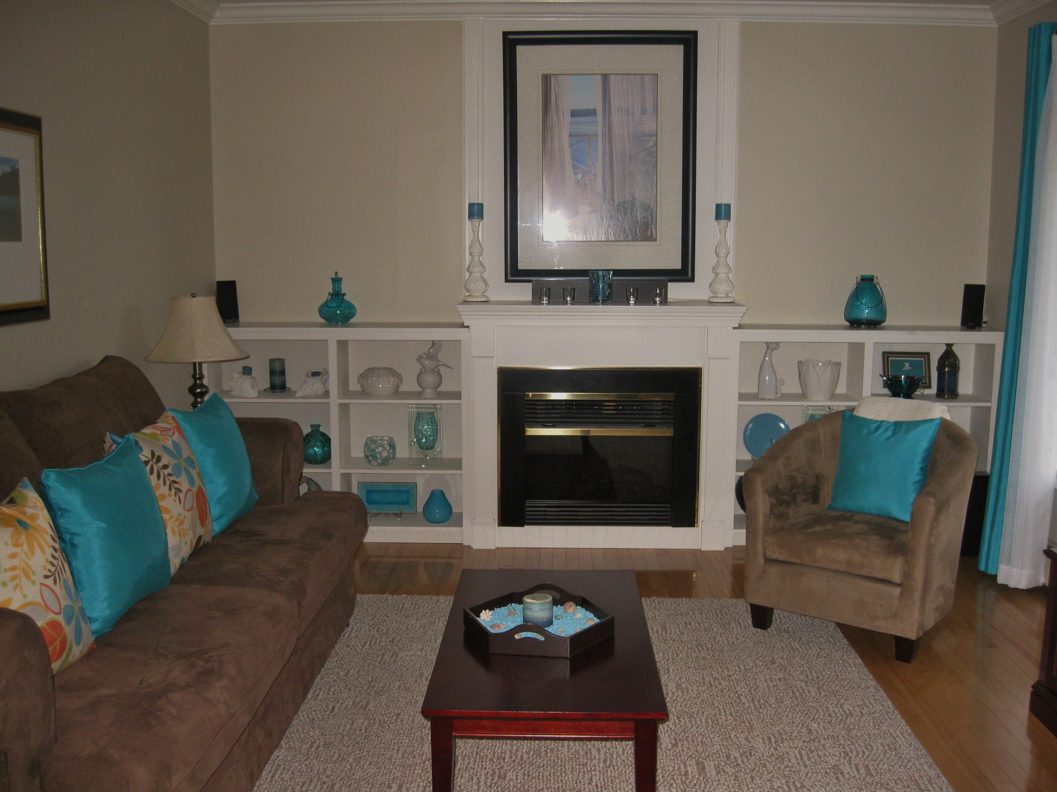Best Living Room In Teal And Chocolate Brown Lovely Living 400 x 300