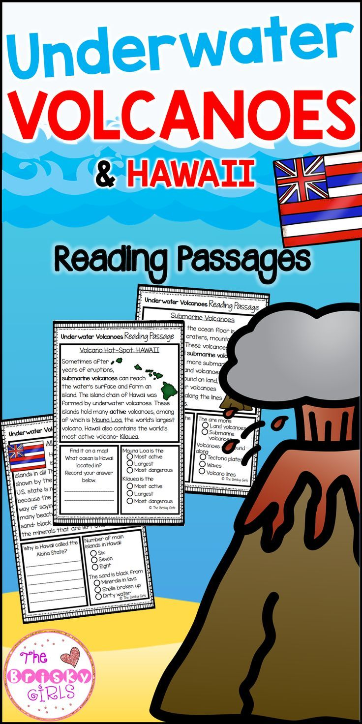 Underwater Volcano Reading Passages Reading Passages Volcano And