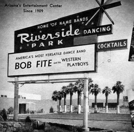 Riverside Ballroom 1962 Arizona History Arizona Riverside