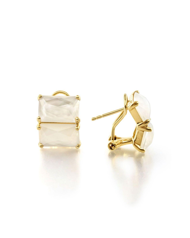 Ippolita 18K Rock Candy Two-Stone Earrings, White