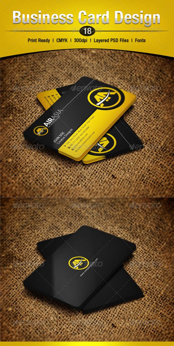 Business card design 18 business cards psd templates and black business card design 18 double sided colourmoves